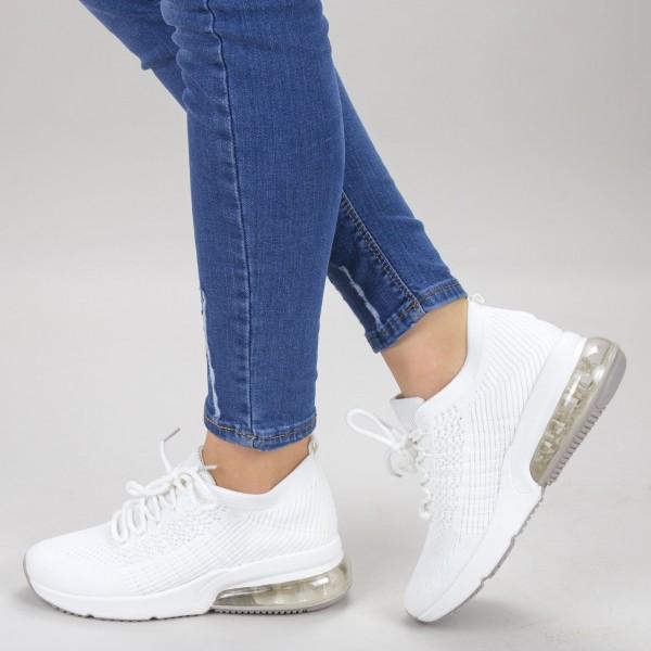 Pantofi Sport Dama 526 White Sport Fashion