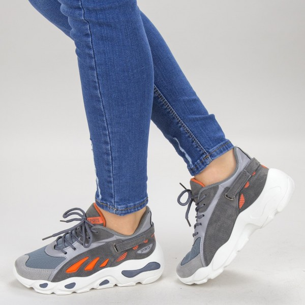 Pantofi Sport Dama H001-1 Orange Sport Fashion