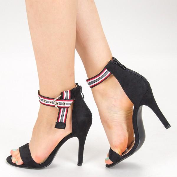 Sandale Dama cu Toc VB9330 Black Vera Blum