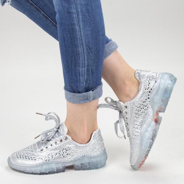 Pantofi Sport Dama JYP2 Silver Mei