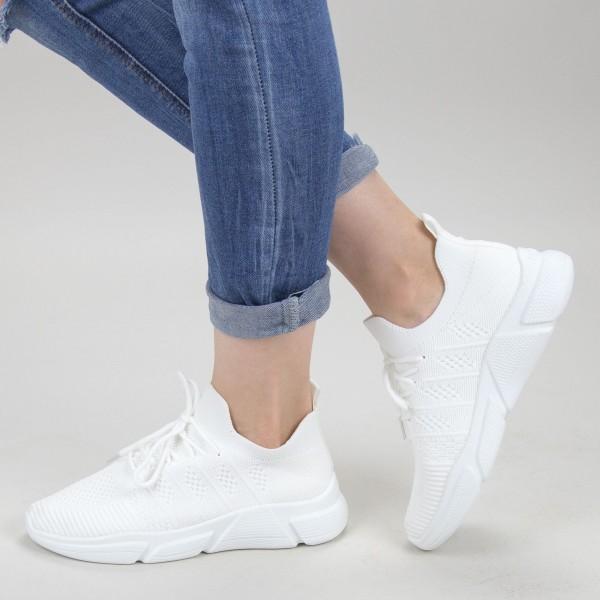 Pantofi Sport Dama KSQ1 White Mei