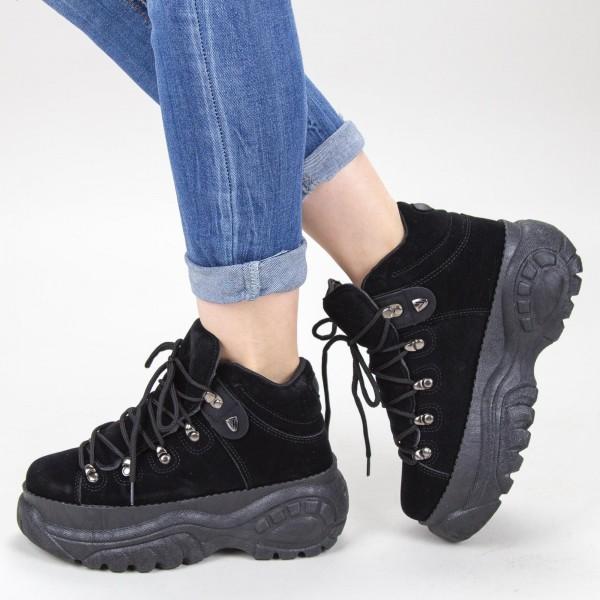 Pantofi Sport Dama cu Platforma GB83 Black Mei