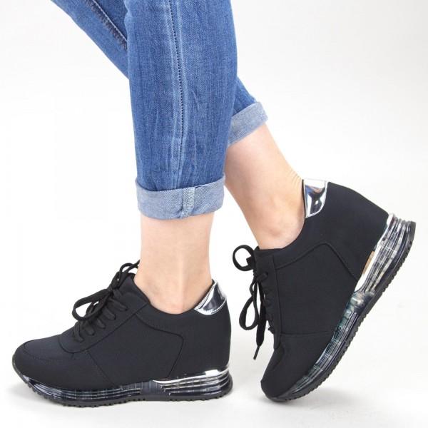 Pantofi Sport Dama cu Platforma SZ215 Black Mei