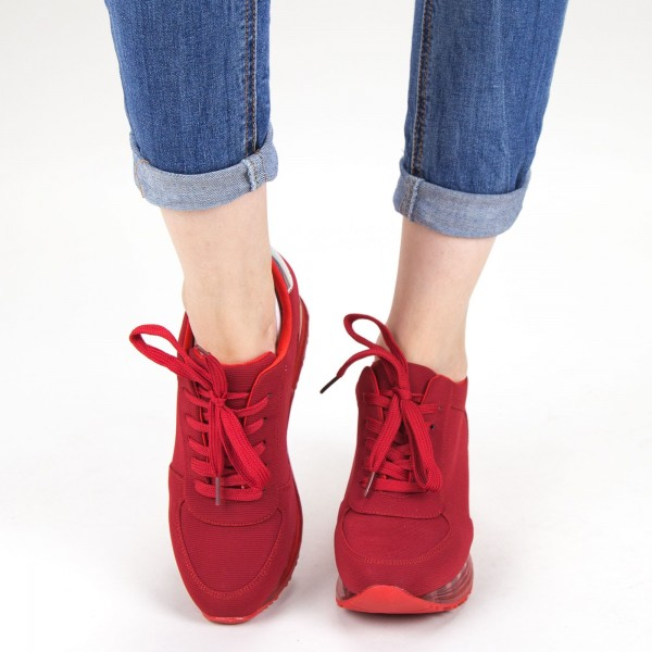 Pantofi Sport Dama cu Platforma SZ215 Red Mei