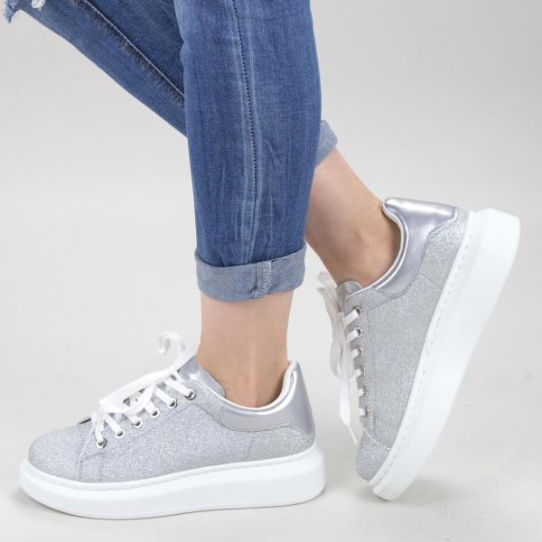 Pantofi Sport Dama YKQ136A Silver Mei
