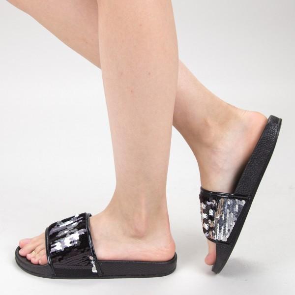 Papuci Dama HM-10 Black Yiyi