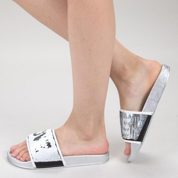 Papuci Dama HM-10 Silver Yiyi