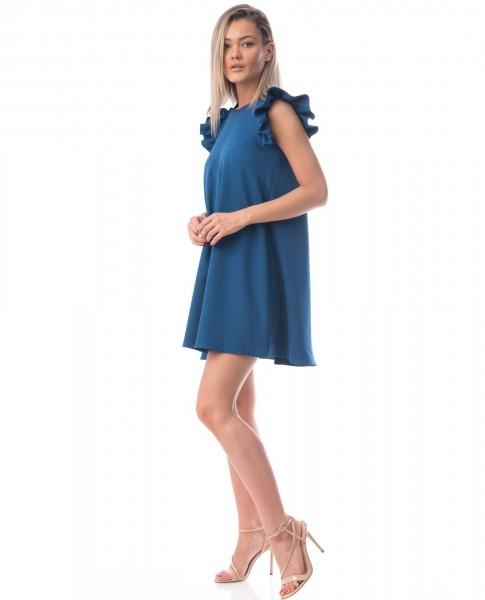 Rochie Dama ROCHIE R811 Albastru Adrom