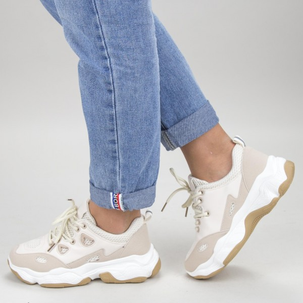 Pantofi Sport Dama HZL1 Beige Mei
