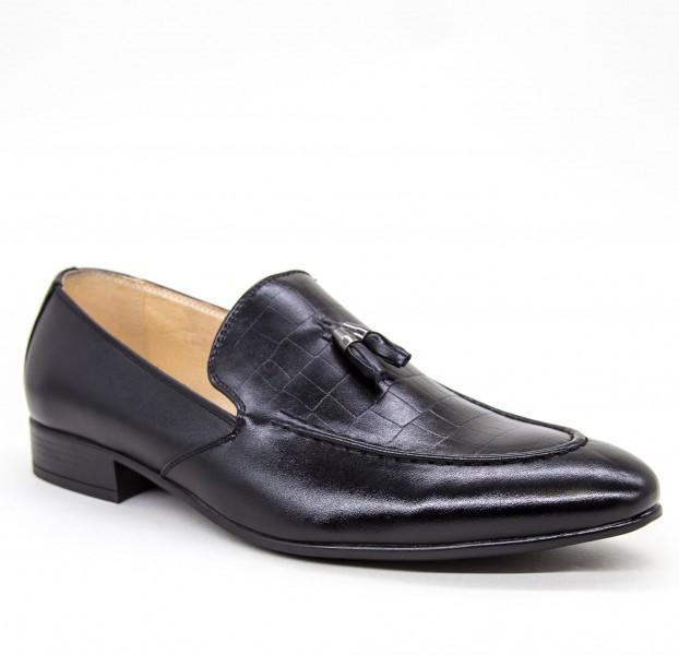 Pantofi Barbati A102-1 Black Fashion
