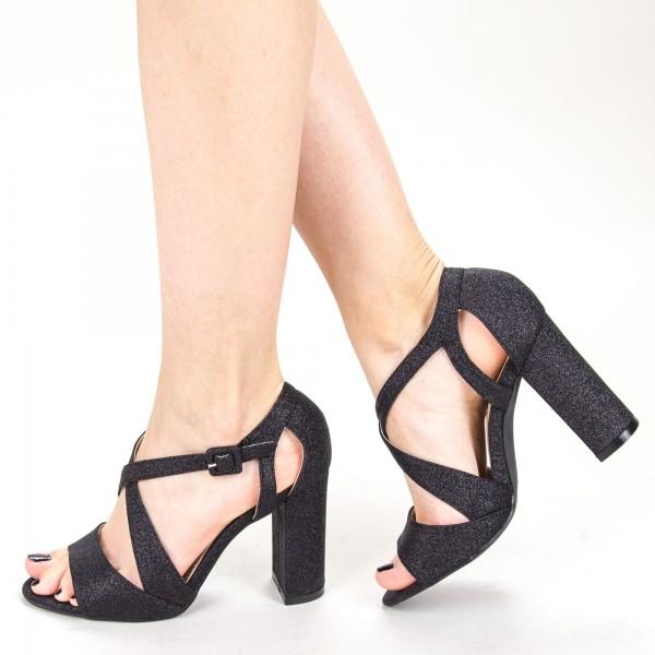 Sandale Dama cu Toc KV32A Black Mei