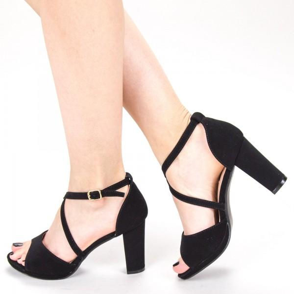 Sandale Dama cu Toc XD237T Black Mei