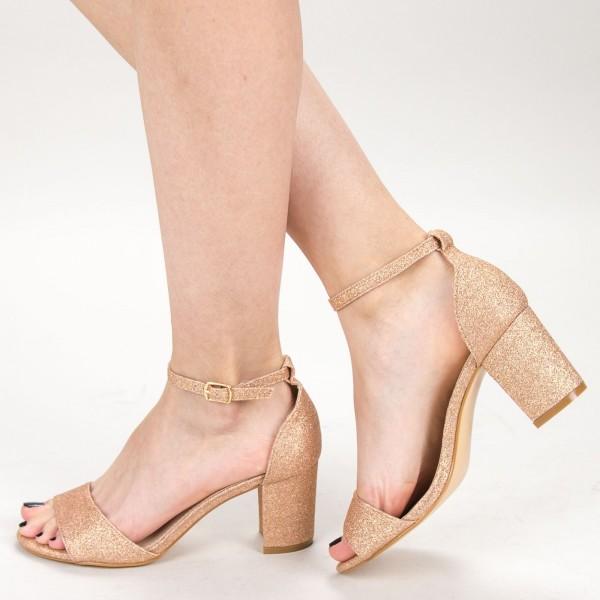 Sandale Dama cu Toc XD251RA Champagne Mei