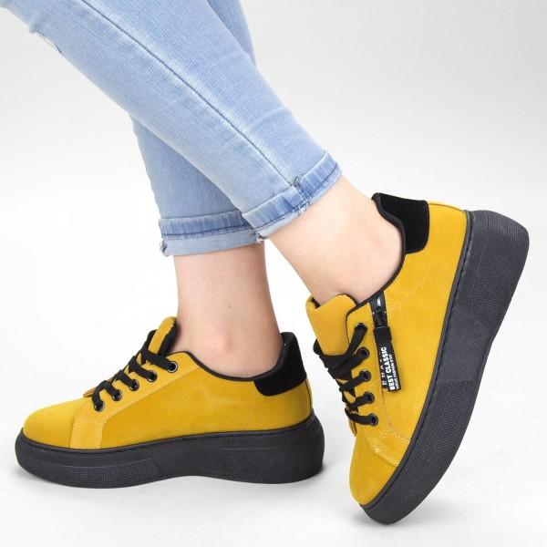 Pantofi Sport Dama YKQ102 Yellow Mei