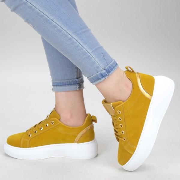 Pantofi Sport Dama YKQ152A Yellow Mei