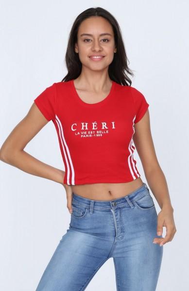 Tricou Dama TRICOU 8332 CHERI Rosu Adrom