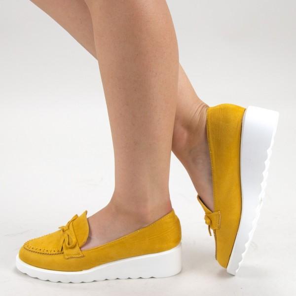 Pantofi Casual Dama HJ13 Yellow Mei