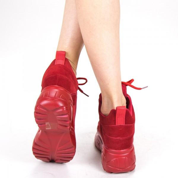 Pantofi Sport Dama cu Platforma YKQ109 Red Mei