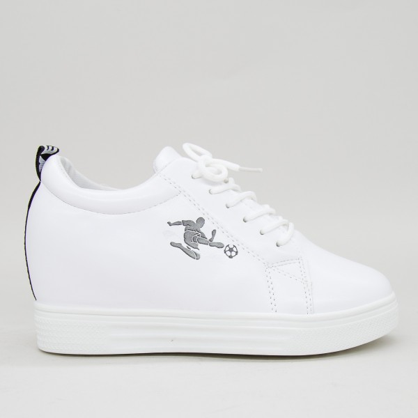 Pantofi Sport Dama cu Platforma 610 PSDP White Sport Fashion