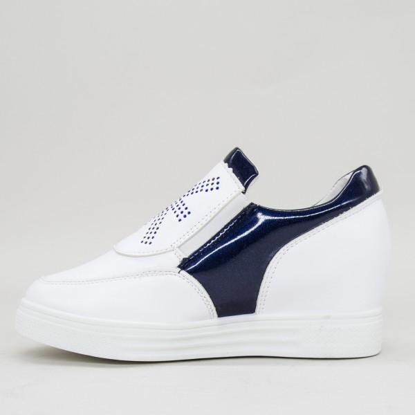 Pantofi Sport Dama cu Platforma 612 PSDP Blue Sport Fashion