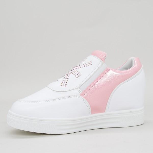 Pantofi Sport Dama cu Platforma 612 PSDP Pink Sport Fashion