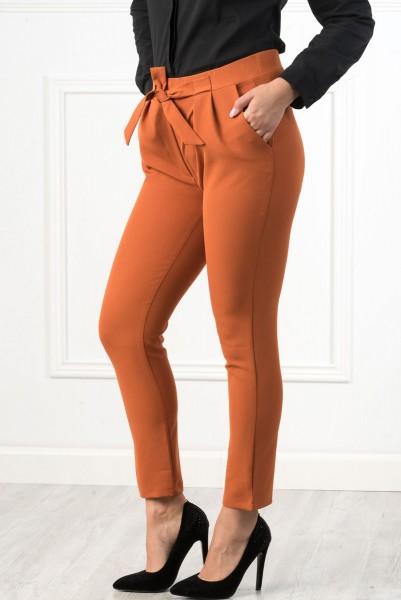 Pantaloni Dama PANTALON P118 Portocaliu Adrom