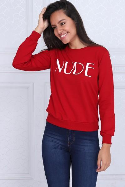 Bluza Dama BLUZA 8381-2 NUDE Rosu Adrom