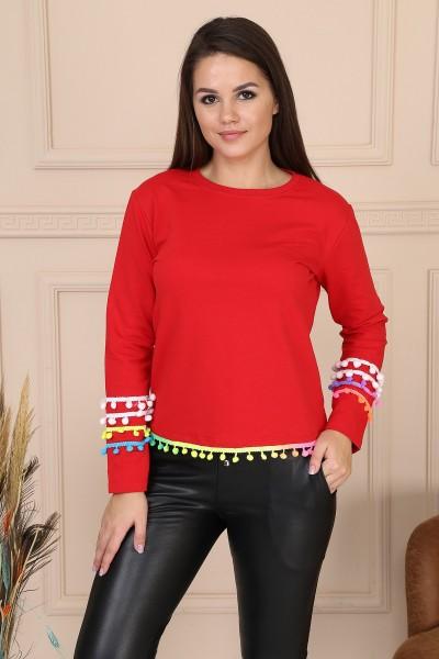 Bluza Dama 8462 Rosu Adrom