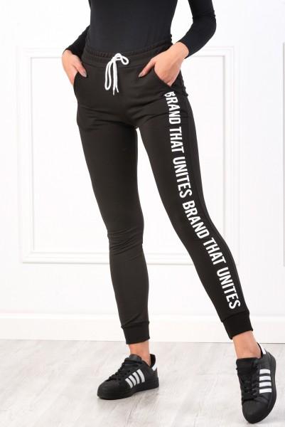 Pantaloni Dama 8492 BRAND Negru Adrom