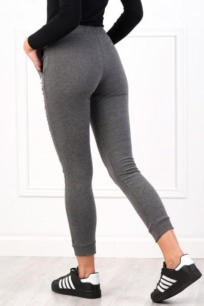 Pantaloni Dama 8492 BRAND Gri-Inchis Adrom