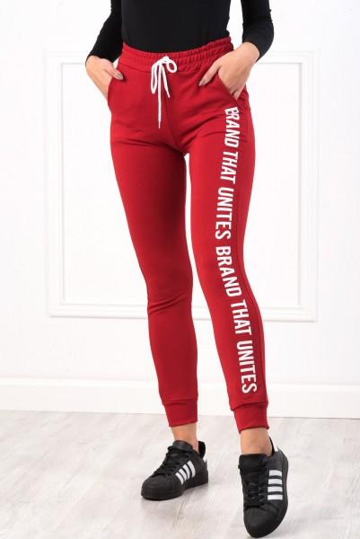 Pantaloni Dama 8492 BRAND Rosu Adrom