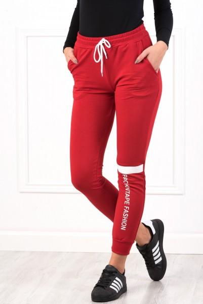 Pantaloni Dama 8491 PACKINTAPE Rosu Adrom