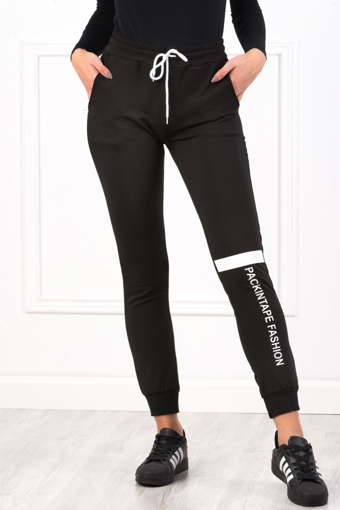 Pantaloni Dama 8491 PACKINTAPE Negru Adrom