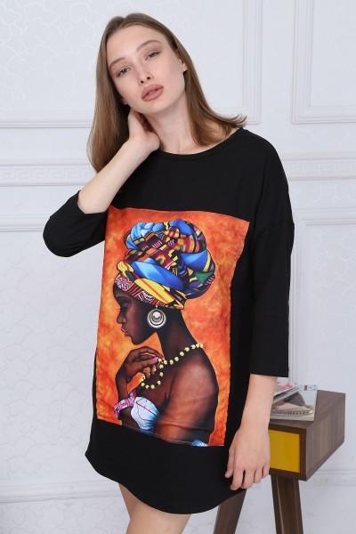 Rochie Dama ROCHIE 8412-1 NEGRESA Negru Adrom