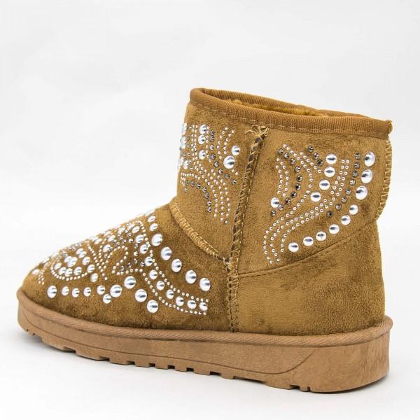 Ghete UG Dama OM9 Camel Fashion