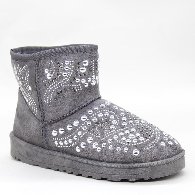 Ghete UG Dama OM9 Grey Fashion