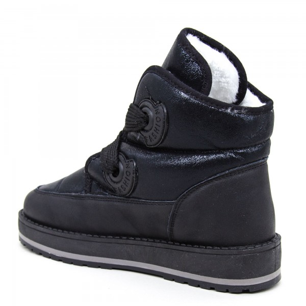 Ghete Dama B8335 Black Fashion