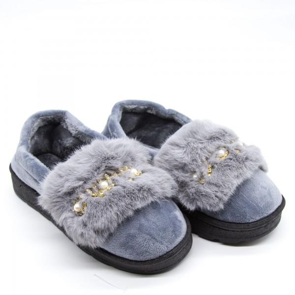 Papuci Dama de Casa FM8-10 Grey Fashion