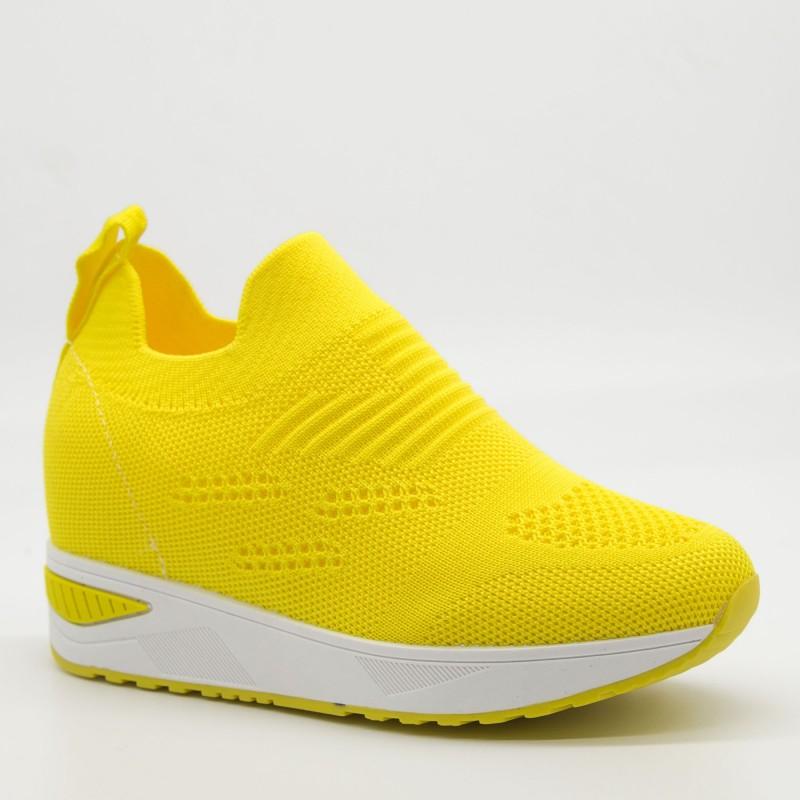 Pantofi Sport Dama cu Platforma KDN5 Yellow Mei