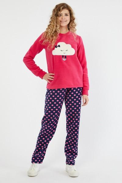 Pijama Dama PIJAMA 8602 NOR BULINE Fucsia Adrom