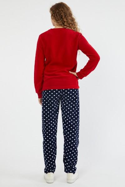Pijama Dama PIJAMA 8602 PUI BULINE Rosu-bleumarin Adrom