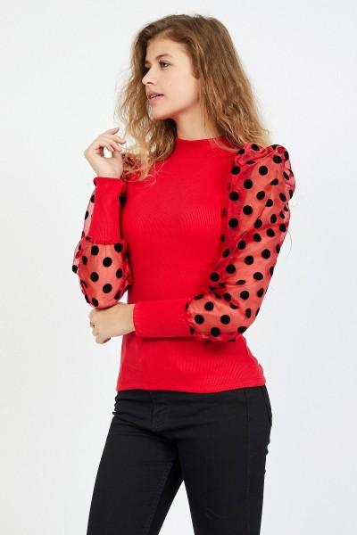 Bluza Dama BLUZA 8557 BULINE Rosu Adrom