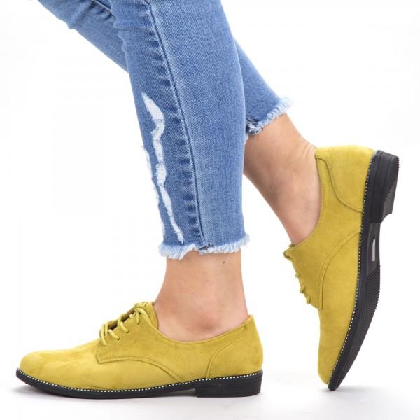 Pantofi Casual Dama YT21 Yellow Mei