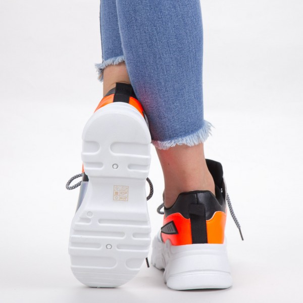 Pantofi Sport Dama YKQ203 White-Orange Mei