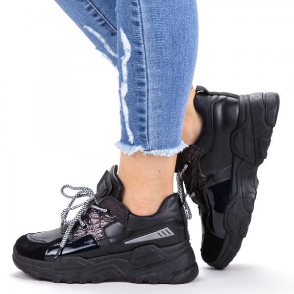 Pantofi Sport Dama YKQ203 All Black Mei