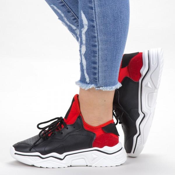 Pantofi Sport Dama HMM26 Black-Red Mei