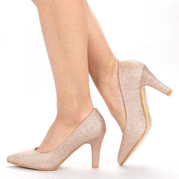 Pantofi cu Toc YXD5 Champagne Mei