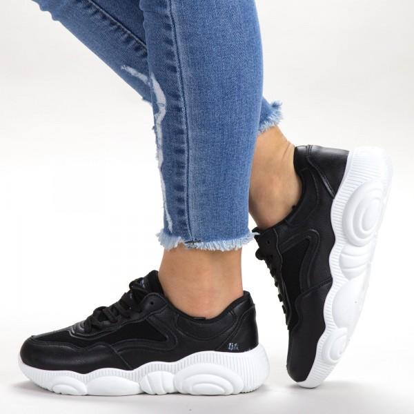 Pantofi Sport Dama 527-1 PSD Black Sport Fashion
