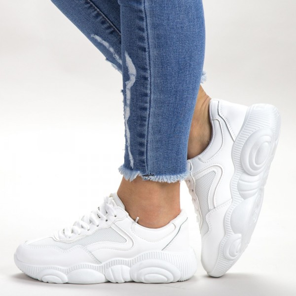 Pantofi Sport Dama 527-2 PSD White Sport Fashion