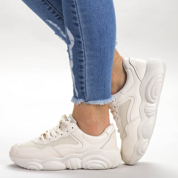 Pantofi Sport Dama 527-3 PSD Beige Sport Fashion
